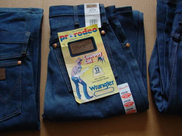 Photo 3 Pr. New Wrangler mens jeans each - $10 (Staples)