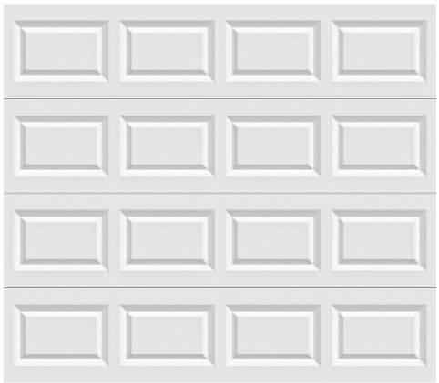 Photo 9x8 White Insulated Steel Garage Door - $400
