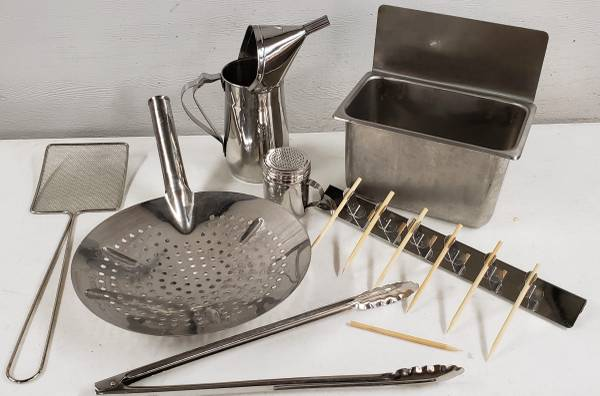 Photo CONCESSION TRAILER TOOLS for FUNNEL CAKE, CORN DOG, DEEP FRYING - $75 (Deerwood)