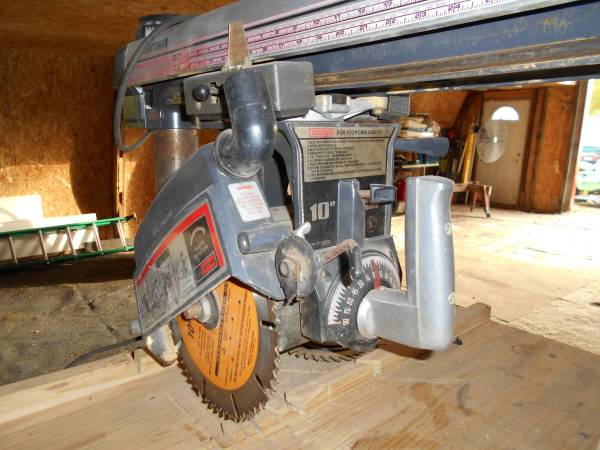 Photo GOTA GO  Craftsman Radial arm compound miter saw MUST SELL FAST - $150 (The Total Package Flea Market in Garrison Mn)