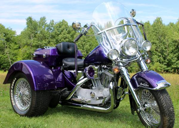 Photo HARLEY Sportster TRIKE with Heritage Front End - $10,000 (Bovey)