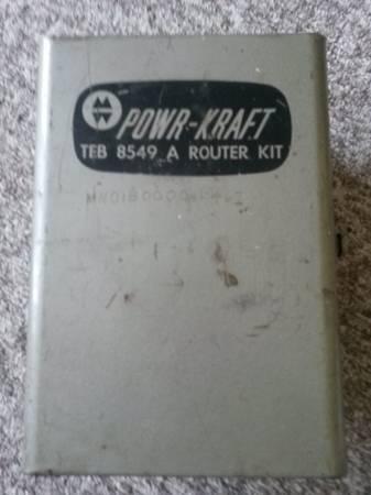 Photo Montgomery Wards Powercraft router kit - $85 (Brainerd)