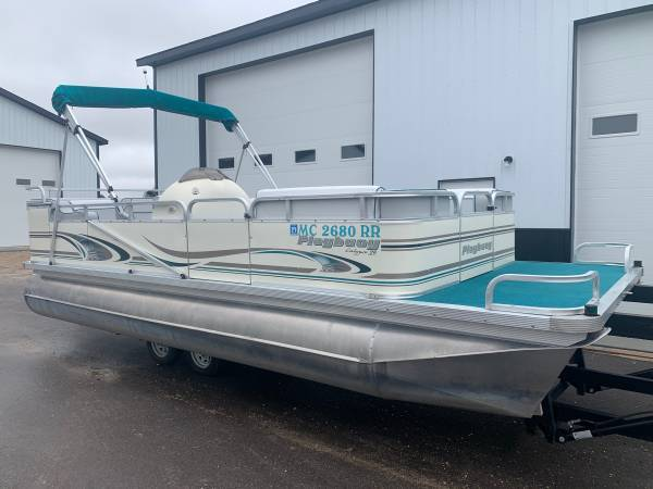 Photo Newly Reupholstered 2039 Pontoon Boat with 50 HP MERCURY 4-STROKE Motor - $12,900 (North Central Minnesota)