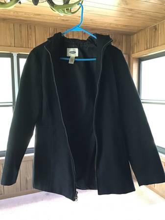 Photo Old Navy Womens Small Black Wool Jacket - $10 (Bloomington or Richfield)