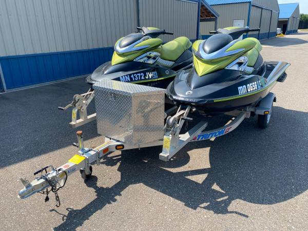 Photo Pair Sea-Doo RXP 215 jet skis and trailer package - $7,999 (Pine River)