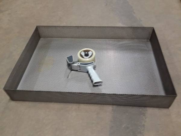 Photo Stainless Steel perforated pan basket tray - $125 (Navarre)