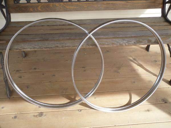 Photo Two Vintage Rogers Chrome Bass Drum Hoops Rims For 22quot Kick Drum - $120 (Merrifield)