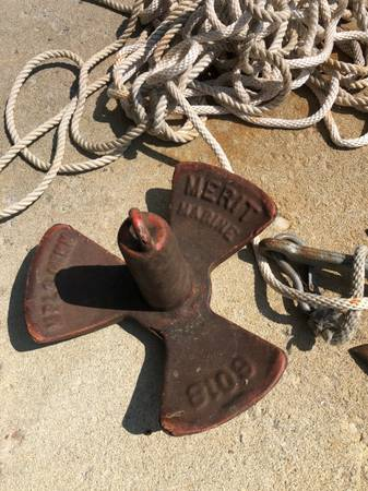 Photo Used boat anchor 20 lbs - $10 (Baxter)
