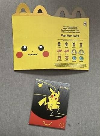 Photo Mcdonalds 2021 pokemon 25th anniversary happy meal pikachu box - $35