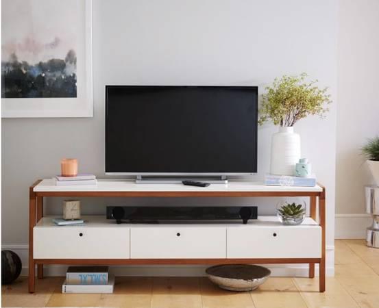 Photo west elm modern media console  TV stand  mid century modern - $350