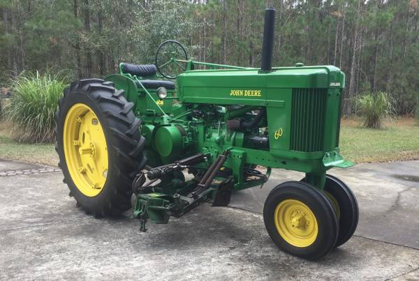 Photo 1953 John Deere 60 with JD 10 Side-Mount Mower, Complete - $7500 (Shell Point, Ga.)