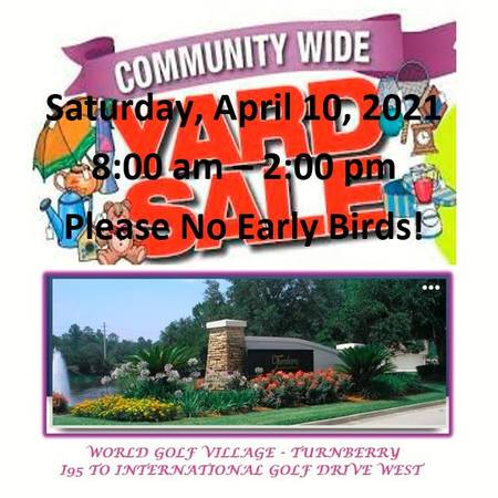 Photo Community Garage Sale - Saturday, April 10th - 800 am - 2 pm (Saint Augustine World Golf Village - Turnberry)