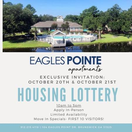 Photo Don39t Miss The Housing Lottery CallText Eagles Pointe Today (104 Eagles Point Dr Brunswick, GA)