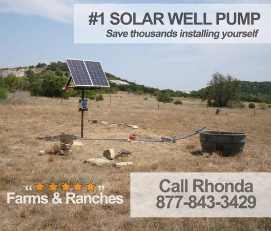 Photo Full Set Pump well water with solar-No more windmill repairs - $1,550 (brunswick)