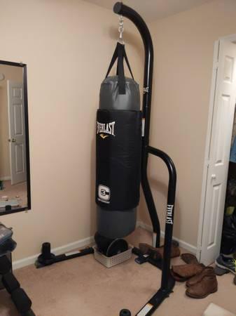 Photo Heavy bag, stand, gloves - $150 (Brunswick - Timber Ridge)