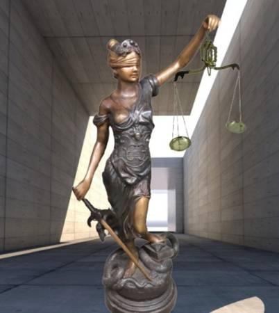 Photo LAW STATUE 65quotTall Bronze Lady Justice Sculpture - $3,500 (Alma, Georgia)
