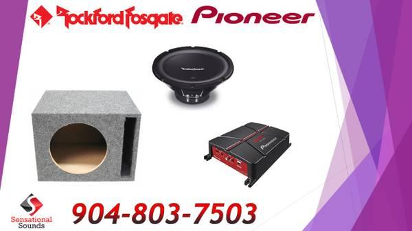Photo Rockford Fosgate Pioneer Bass Package Installed - $389 (Jacksonville)