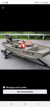 Photo 2015 Tracker 1039 Jon Boat Flat Bottom - $2,300 (Lockport)