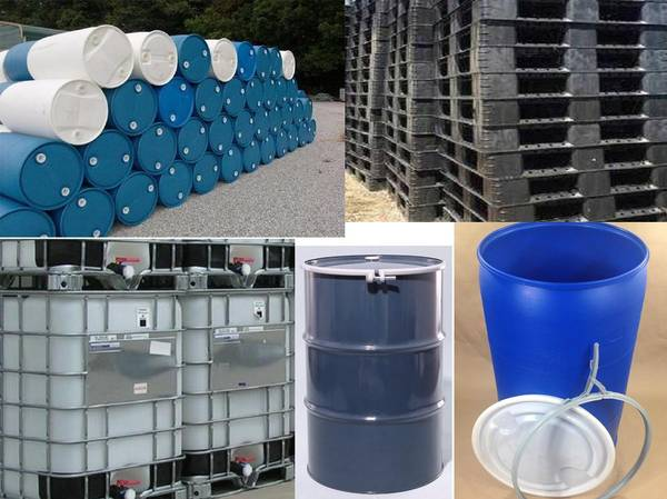 Photo 5 30 55 275 Gallon Barrels Totes Tank Steel Drums Plastic Pallets Bins - $15 (east of rochester)