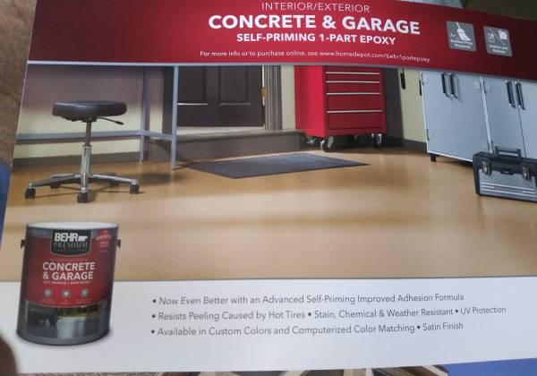 Photo 5 gln Behr sp 1 pt epoxy concrete and garage paint - $125 (amherst)