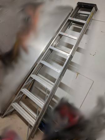 Photo 8 ft. Aluminum Step Ladder with 250 lb. Load Capacity Type I Duty Rati - $77 (East Amherst)
