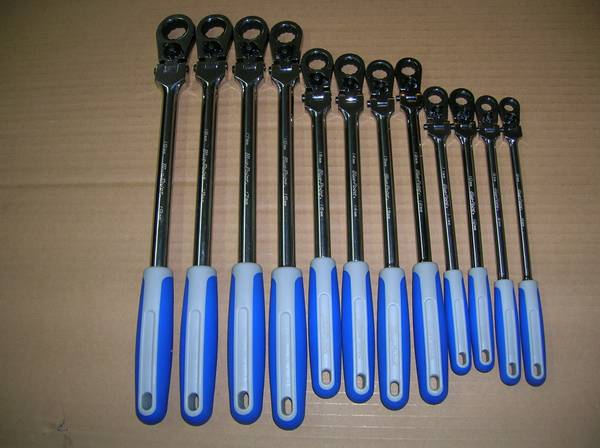 Photo Blue Point LOCKING FLEX-HEAD Ratcheting Box Master Set 12 pc. (NEW) - $300 (cheektowaga n.y.)
