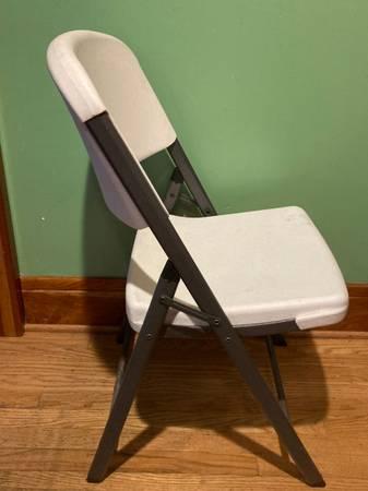 Photo Chair Commercial Dorm Ergonomic Lifetime White Folding Office Desk - $15 (Amherst)