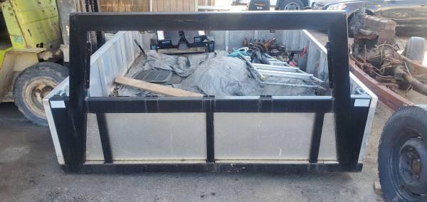 Photo Custom pickup truck aluminum diamond plate and steel frame - $2,500 (LANCASTER)