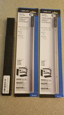 Photo Delta 12 12quot Planer Blades (Set of 4) and Motor Brush Kit