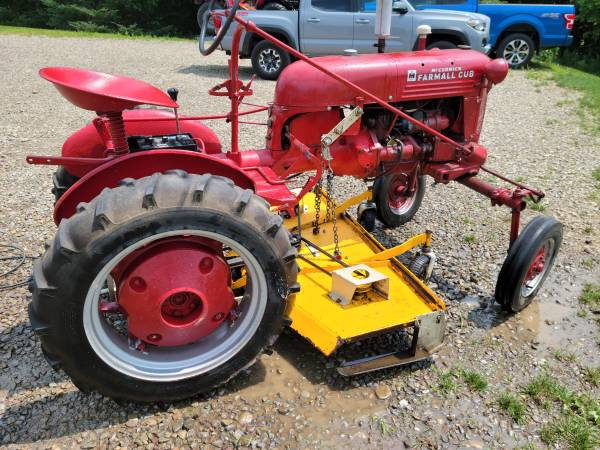 Photo Farmall cub with mower and plow - $3,500 (Freedom)