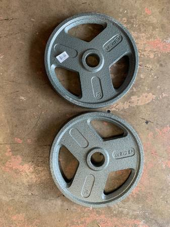 Photo New Never Used Weider 35 lb Olympic Weight Plates - $120 (Elma)