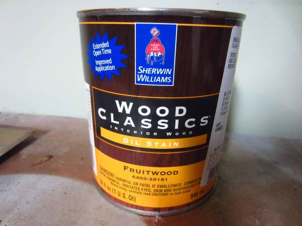 Photo New Quart of Sherwin Williams Fruitwood Oil Stain - $5 (West Seneca)