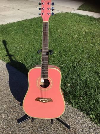Photo Washburn Pink 34 Acoustic Guitar - $100 (Depew)