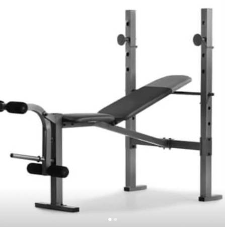 Photo Weider XR6.1 Multi-Position Weight Bench With Rack and Leg Developer - $130 (Niagara Falls)