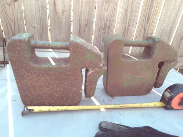 Photo back weights, 20kg john deere, craftsman, tractor - $99 (Amherst)