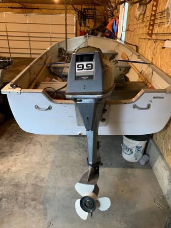 Photo 14 ft aluminum v haul boat w9.9 Yamaha 4 stroke motor - $3,200 (Missoula)