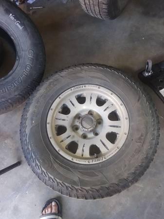 Photo 4 16quot 6 lug wheels and tires - $300 (Anaconda)