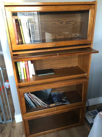Photo Book shelf glass doors - $85 (Missoula)