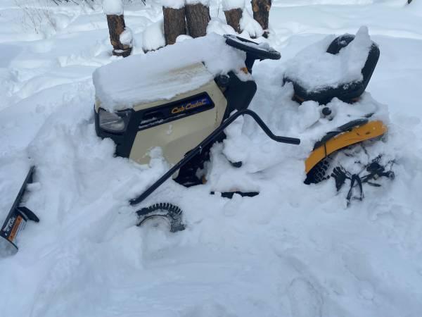 Photo Cub Cadet snow plow and mower - $950 (south Bozeman)