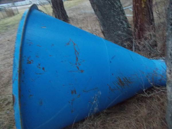 Photo Large Steel Cone for Concrete Mixer or Trommel - $500 (Superior)