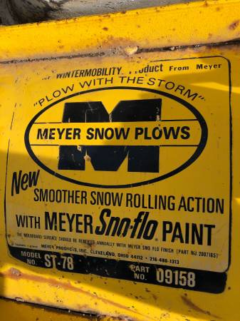 Photo Meyers snow plow 6 12  - $1,500 (Butte)