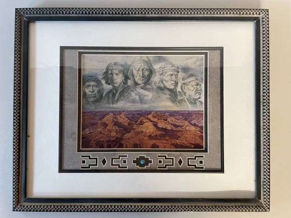 Photo Native American Grandfather Earth Painting with custom framing by ar - $35 (Missoula)