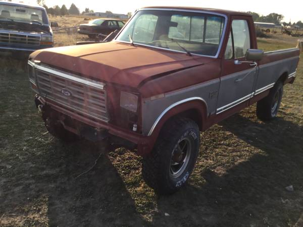 Photo Parting out 86 Ford 34 ton 4x4 pickup - $500 (Blackfoot)