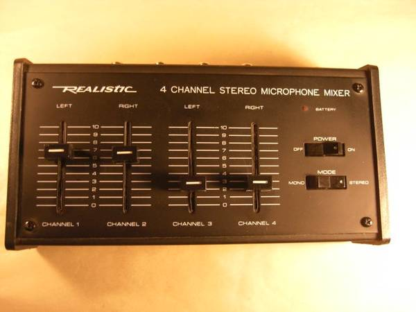 Photo Realistic 4 channel stereo mike mixer - $25 (Helena)