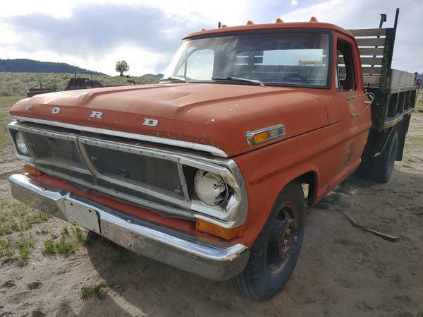 Photo 1971 FORD F350 1 ton dump, flatbed  - $1,500 (BUTTE)