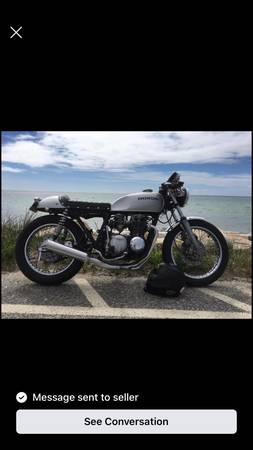 Photo 1977 Honda cb 550 cafe racer - $2,900 (Dennis)