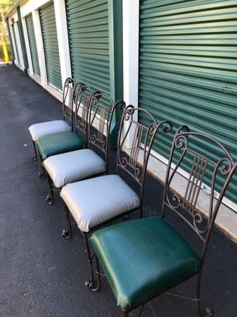 Photo 5 Heavy Wrought Iron Chairs - $150 (Buzzards bay)