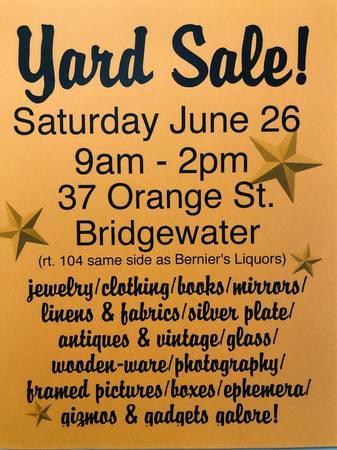 Photo Bridgewater Yard Sale - Just one week away (Bridgewater)