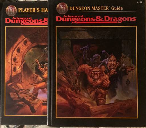 Photo Dungeons  Dragons books (ADD 2E, PHB and DMG) - $20 (Yarmouth)