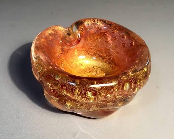 Photo Italian Art Glass Ash Tray Seguso Murano Sommerso controlled Bubble - $125 (Barnstable, MA (Cape Cod))